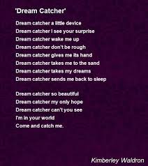Dream Catchers Near Me Dream Catcher' Poem by Kimberley Waldron Poem Hunter 87