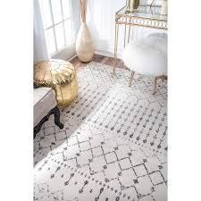 home interior last chance trellis area rug nuloom meeker grey 9 ft x 12 rzpl02a