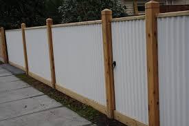 corrugated metal fences. Interesting Fences Corrugated Iron Fencing Intended Metal Fences D