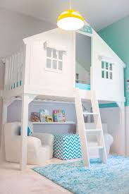 kids bedroom for girls blue. Tree House Bed Via Of Turquoise And Other Totally Cool Kids Bedrooms Bedroom For Girls Blue