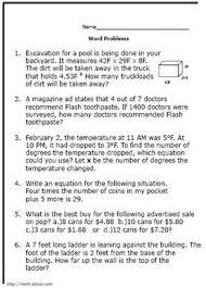 quiz eighth graders with these math word problems worksheet