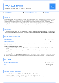 Top One Page Resume Templates With Simple To Use Examples Clean