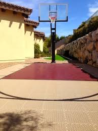 <b>Small</b> Home Backyard with SnapSports® <b>Outdoor</b> Basketball Court ...
