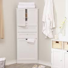 Bathroom Cabinets Cove White Tallboy Bathroom Cabinet Gloss