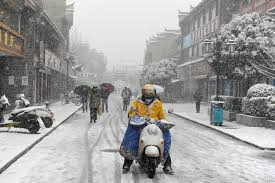 Snowfall Blizzard Lights Second Wave Of Snow Sleet Likely For Parts Of China Voice