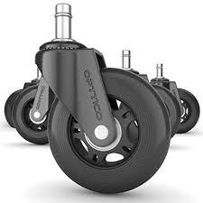 office chair caster wheels replacement set of 5 black 3 hardwood floor chair wheels