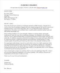 Assistant Marketing Manager Cover Letter Cover Letter Marketing Director Position Free Marketing