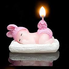 Child Baby Boysbaby Girls Birthday Candles Angel Baby Birthday Cake