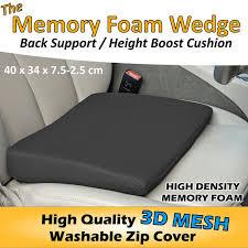 memory foam wedge car seat cushion back pain booster chair lumbar support