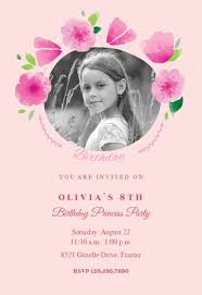 Pink Party Petals Free Birthday Invitation Template