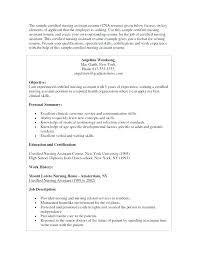 Cna Resume Template Classy Nursing Home Resume Sample Nurse Templates Free For Nurses Care