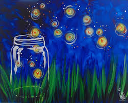 how to paint kids camp day 1 summer fireflies