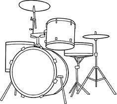 Drum Set Coloring Page Drums Room In 2019 Drum Kits Drums
