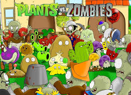 plants vs zombie wallpaper poster