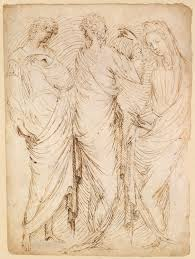 renaissance drawings material and function essay heilbrunn three standing figures recto seated w and a male hermit in half