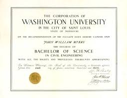 diploma report document details washington university diploma