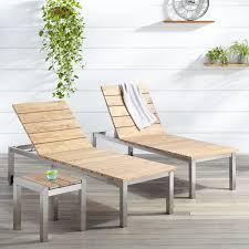 teak chaise lounge chairs. Macon 3-Piece Teak Outdoor Chaise Lounge Chair Set - Whitewash Chairs