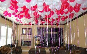 room decoration with balloons