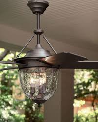 Image Indoor Outdoor Horchow Dark Aged Bronze Outdoor Ceiling Fan With Lantern