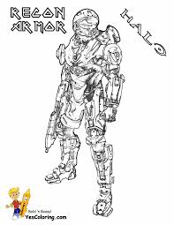 Small Picture Halo 5 Coloring Pages