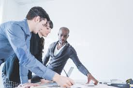 Multiracial Business People Working Together Connected With