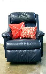 blue leather reclining sofa recliner navy