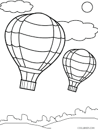 hot air balloon coloring page printable pages for kids preschool