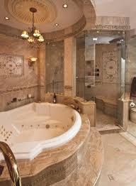 jacuzzi tub bathroom mediterranean with chandelier over bathtub trim and border tiles