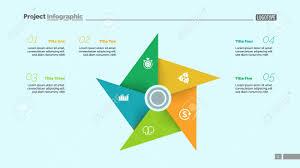 Metaphor Diagram With Five Elements Pinwheel Cycle Chart Slide