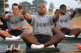 u s department of defense photo essay  u s army pfc pherelle fowler stretches during yoga class on camp bundela