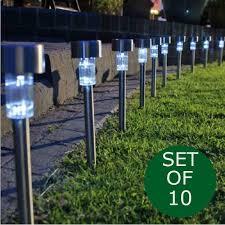 10 pack solar lights outdoor solar garden lights pathway lights outdoor landscape lighting