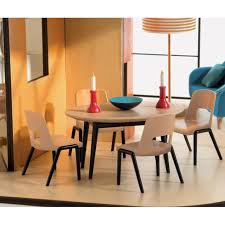 modern doll furniture. djeco modern doll house the dining room furniture sold separately e