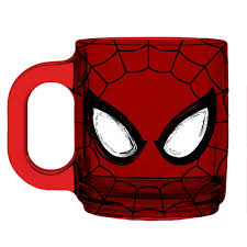 spider man eyes red glass coffee mug 0