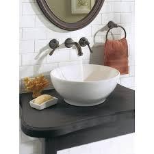 Wall Bathroom Faucet Moen Kingsley Wall Mount 2 Handle Low Arc Bathroom Faucet Trim Kit