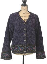 Icelandic Design Details About Icelandic Design Purple Embroidered Lined Wool Blend Cardigan Sweater Jacket Xl