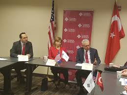 tho hosts roundtable with honorary president of the assembly of european regions and the turkish ambassador to the u s