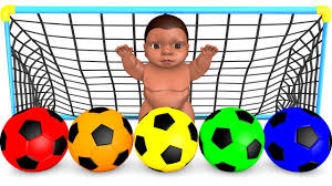 Learn Colors With Soccer Balls Little Baby for Children Kids.