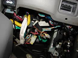 disconnected wiring harnesses under the steering wheel subaru click image for larger version far out jpg views 3988 size
