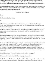 research paper proposal premium templates forms  research paper proposal template