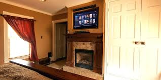 mounting tv in brick fireplace ceiling installation of a above a brick fireplace mounting tv into