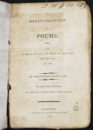 a select collection of poems viz an essay on man an essay on  a