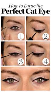 create a dramatic cat eye in smaller steps