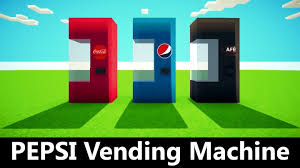 Minecraft How To Make A Vending Machine Magnificent PEPSI Vending Machine Working REDSTONE Tutorial Minecraft Project