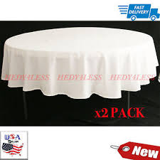 polyester 90 round tablecloth light ivory off white