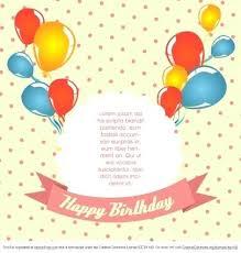 Birthday Greeting Card Template Free Download Invitation Design