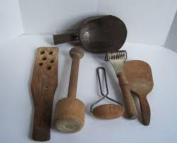 vintage kitchen tools. antique primitive wood kitchen utensil collection vintage tools e