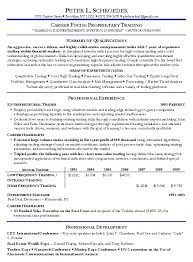 Proprietary Trading Resume Example Photo Gallery On Website