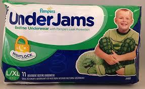Underjams Size Chart Pampers Underjams Bedtime Underwear Boys Size L Xl 11 Ct
