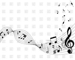 Musical Staff Sign Musical Notes Staff Background Vector Illustration Of Signs Symbols