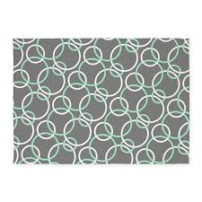 mint white gray circles 539x739area rug by printcreekstudio